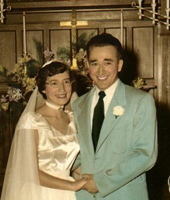 Paul Gene Swope and Marilyn Sue Rogers Wedding 1950