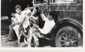 1928 Swope family: Dwight, Margaret, Paul and Bub