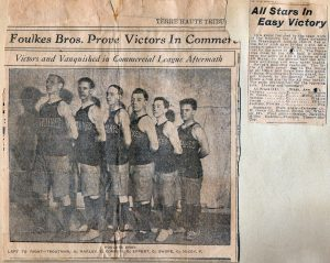 Terre Haute Basketball (1911 - 1912) 2nd from right - Ralph Swope