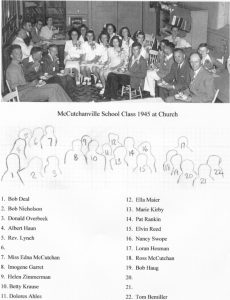 8th Grade 1945 at Church