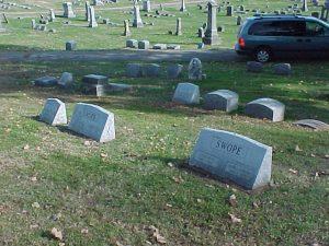 Swope Head Stones at Oak Hill Cemetery, Evansville, IN