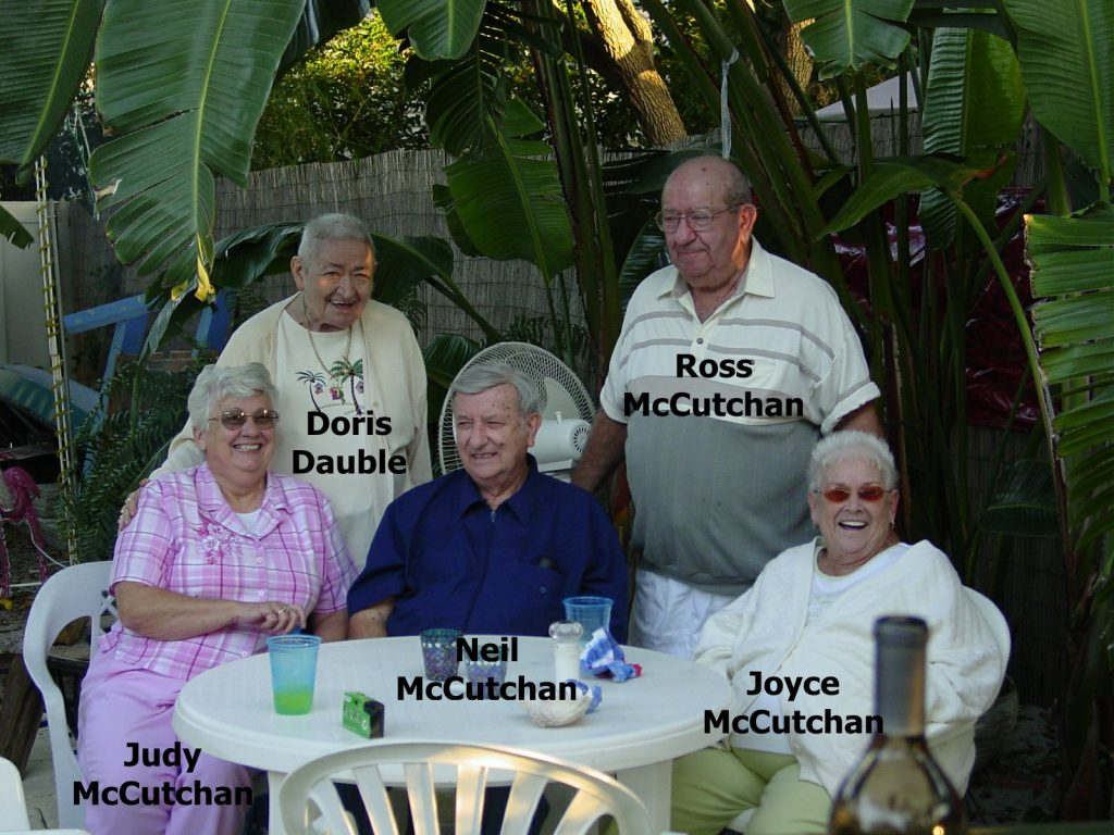 Neil, Judy, Joyce, Ros McCutchan and Doris Dauble