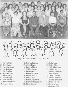 McCutchanville 8th Grade 1952