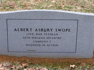 Back of A.A. Swopes stone